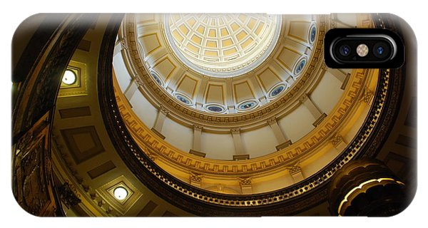 Looking Up The Capitol Dome - Denver IPhone Case