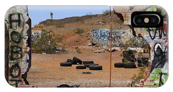 Gas Station iPhone Case - Lookout On Route 66 by Mike McGlothlen