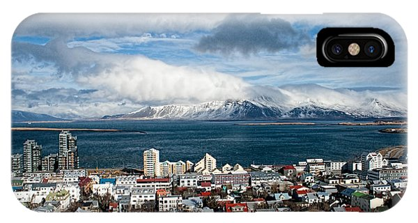 IPhone Case featuring the photograph Lookout Over Reykjavik by Kristia Adams