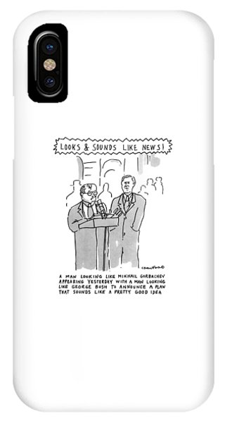 George Bush iPhone Case - Looks & Sounds Like News! by Michael Crawford