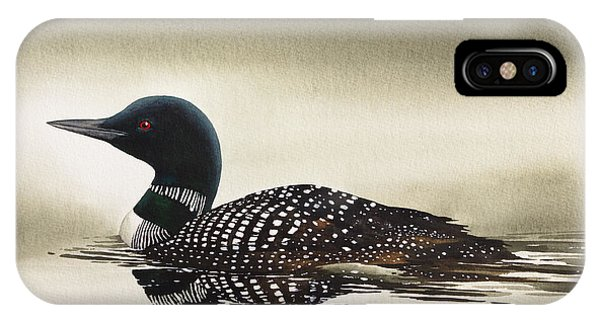 Loon In Still Waters IPhone Case