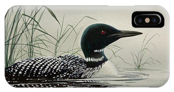 Loon Near The Shore IPhone Case