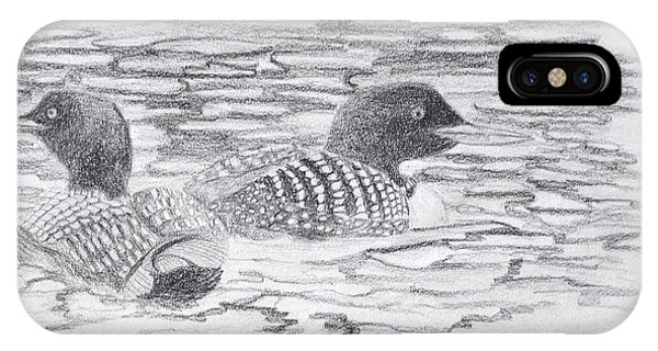 Loon Sketch IPhone Case