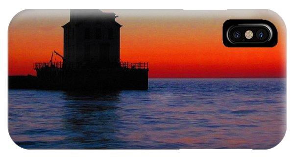 Lorain Lighthouse At Sundown IPhone Case