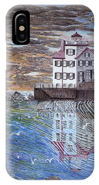 Lorain Lighthouse Phone Case by Frank Evans