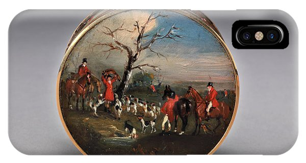 Lid iPhone Case - Lord Edward Thynne's Snuff Box, Decorated With Foxhunting by Litz Collection