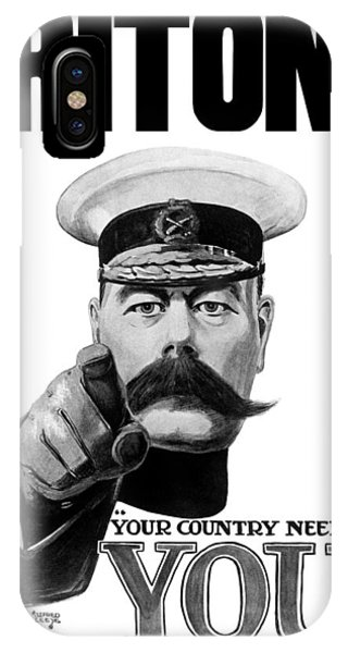 Wwi iPhone Case - Lord Kitchener - Britons Your Country Needs You by War Is Hell Store