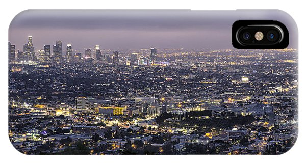 Los Angeles At Night From The Griffith Park Observatory IPhone Case