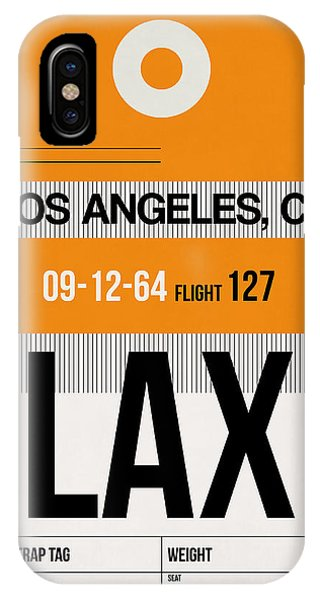 California iPhone Case - Los Angeles Luggage Poster 2 by Naxart Studio