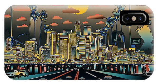 Los Angeles Skyline Abstract 2 IPhone Case
