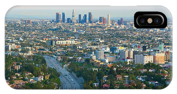 Los Angeles Skyline And Los Angeles Basin Panorama IPhone Case
