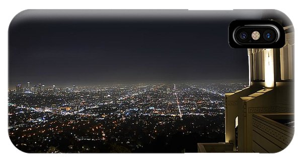 Los Angeles Skyline From Griffith Observatory Phone Case by David Lobos
