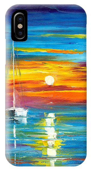 IPhone Case Featuring The Painting Lost At Sea By Jessilyn Park