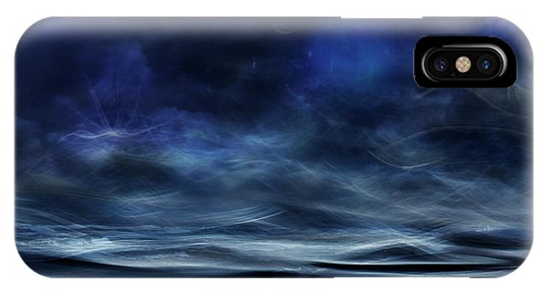 Moonlight iPhone Case - Lost At Sea by Willy Marthinussen