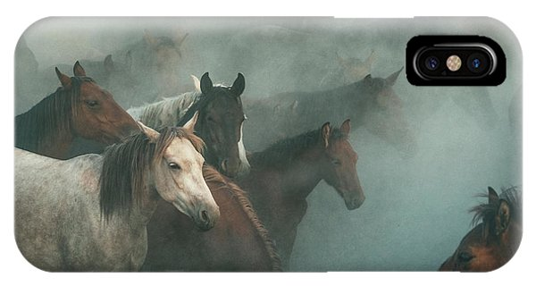 Dust iPhone Case - Lost Horses by H??seyin Ta??k??n