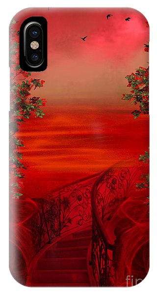 Lost In Red - Surreal Art By Giada Rossi IPhone Case