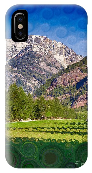 Lost River Airport Runway Abstract Landscape Painting IPhone Case