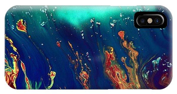 Lost World - Liquid Abstract By Kredart IPhone Case