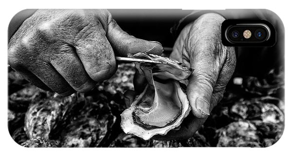 Open iPhone Case - L'ostreiculteur  Oyster Farmer by Manu Allicot