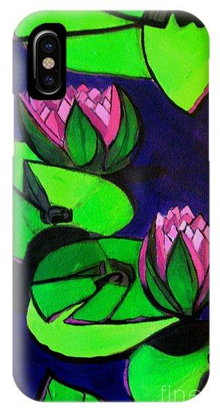 Lotus 2 Botanical Flowers IPhone Case