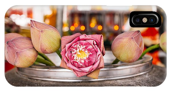 Lotus Flower Offering IPhone Case