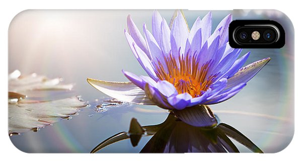 Lotus Flower With Sun Flare IPhone Case
