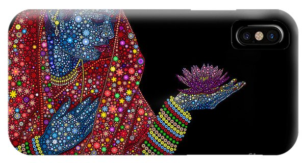 Worship iPhone Case - Lotus Girl by Tim Gainey
