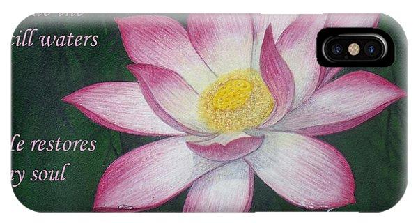 Lotus Lily Psalm Twenty Three IPhone Case