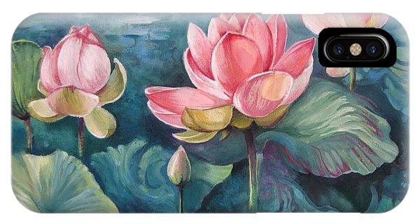 Waterlily iPhone Case - Lotus Pond by Elena Oleniuc