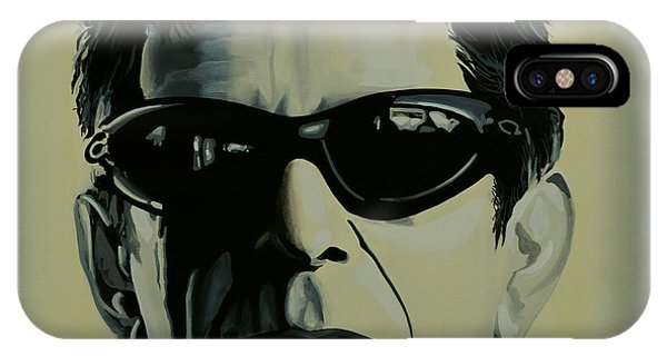 Rock And Roll Art iPhone Case - Lou Reed Painting by Paul Meijering