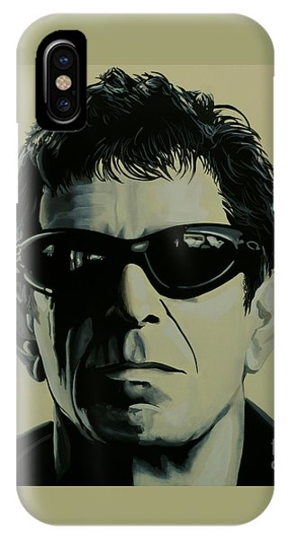 Rock And Roll iPhone Case - Lou Reed Painting by Paul Meijering