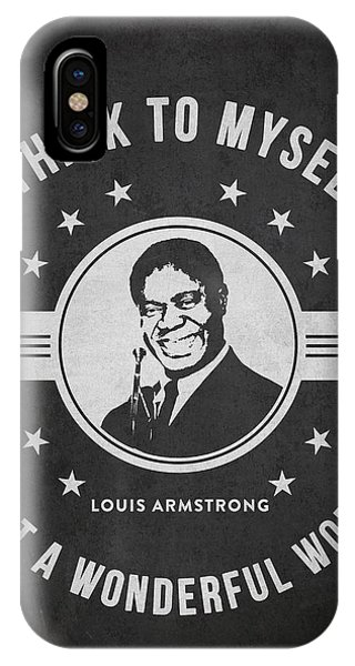 Famous People iPhone Case - Louis Armstrong - Dark by Aged Pixel