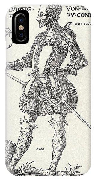 Louis I De Bourbon 1st Prince De Conde Phone Case by Mary Evans Picture Library