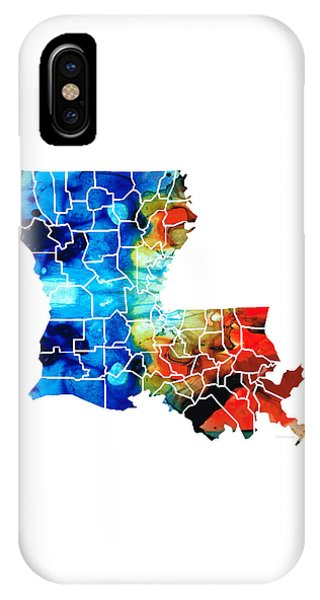 Baton Rouge iPhone Case - Louisiana Map - State Maps By Sharon Cummings by Sharon Cummings