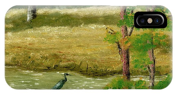 Louisiana Pond With Heron IPhone Case