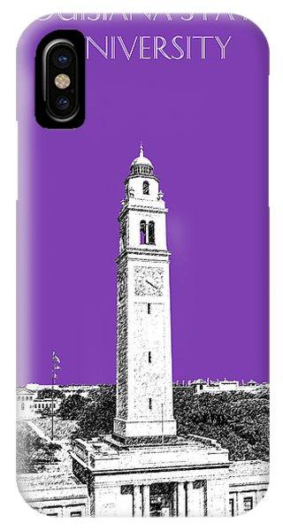 Baton Rouge iPhone Case - Louisiana State University - Memorial Tower - Purple by DB Artist