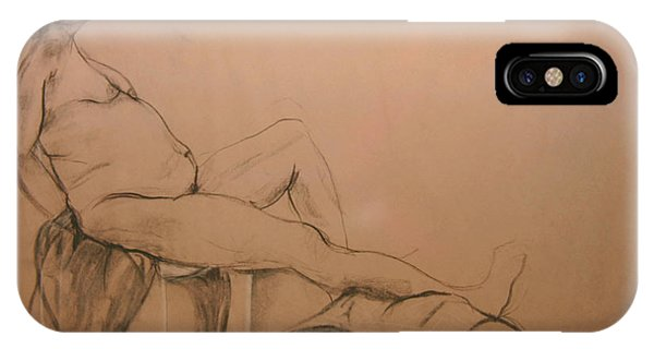 Lounging Nude IPhone Case