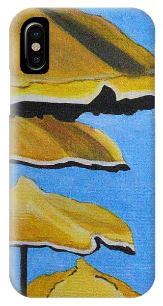 Lounging Under The Umbrellas On A Bright Sunny Day IPhone Case