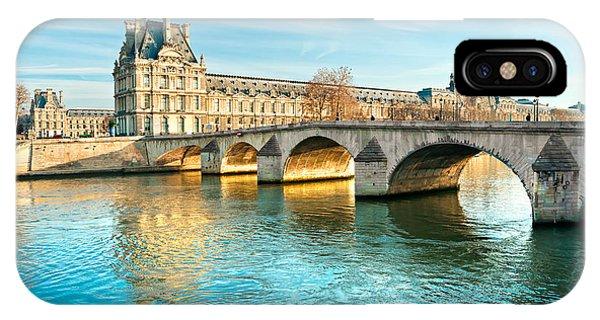 Louvre Museum And Pont Royal - Paris  IPhone Case