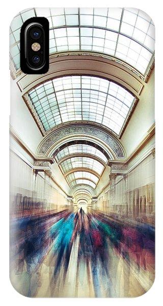 The Louvre iPhone Case - Louvre Rush by Ivan Vukelic