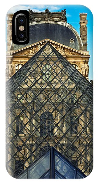Solidity iPhone Case - Louvre Symmetry by Kirk Strickland
