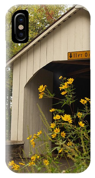 Loux Bridge And Tickseed In September Phone Case by Anna Lisa Yoder
