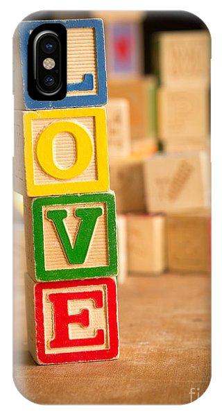 Valentine iPhone Case - Love - Alphabet Blocks by Edward Fielding
