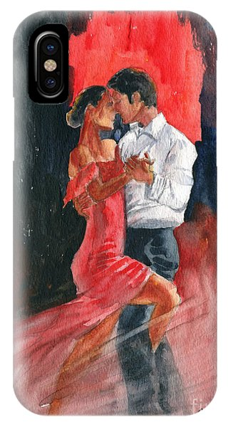 Tango iPhone Case - Love And Tango by Melly Terpening