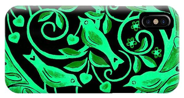 Love Birds, 2012 Woodcut IPhone Case