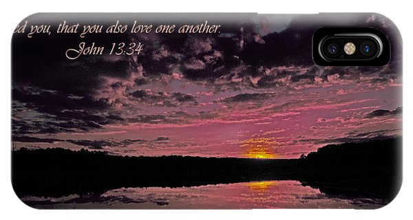 Lake Juliette iPhone Case - Love by Donna Brown