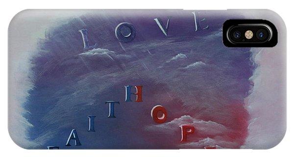 Love Faith Hope Phone Case by Mary Grabill