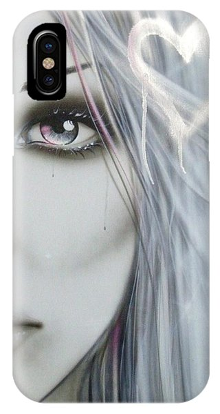 Portraits iPhone Case - Love Hate by Christian Chapman Art