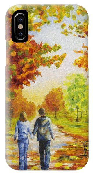 Love In Autumn IPhone Case