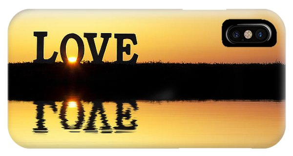 Valentine iPhone Case - Love Is Its Own Reflection by Tim Gainey